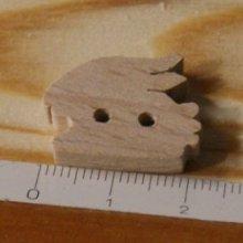 Bouton lapin 22mm bois massif fait main