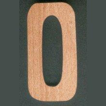 Chiffre 0  en bois ht 8cm