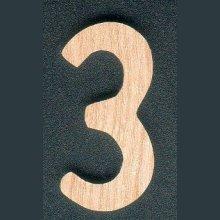Chiffre 3 en bois 5 cm