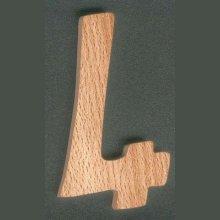 Chiffre 4 hauteur 8cm, en bois de Hêtre massif, decoupé a la main, a coller