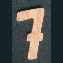 Chiffre 7 en bois 5 cm