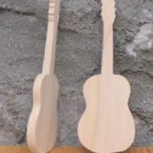 Figurine guitare marque place mariage theme musique