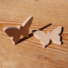 Figurine miniature papillon a decorer, loisirs créatifs embellissement scrap, bois massif fait main