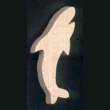 Figurine miniature requin en bois d'erable massif fait main