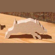 figurine sanglier 3mm, miniature en bois massif theme chasse, foret, nature, fait main, embellissement scrapbooking