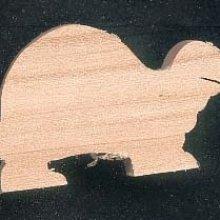 Figurine tortue en bois massif, fait main
