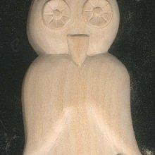 Chouette découpée sculptée non cirée