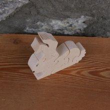 Puzzle bois massif 5 pièces lapin Hetre fabrication artisanale