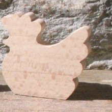 marque place poule mariage theme animaux de la ferme fait main