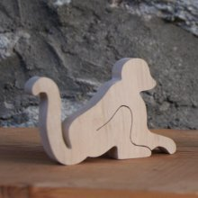 marque place singe, figurine bois a decorer, table mariage