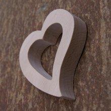 Rond de serviette coeur pour amoureux, noce de bois, mariage, saint valentin