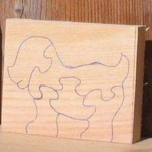 Chien puzzle à decouper
