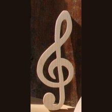 clef de sol en bois ht 20 cm decoration interieur