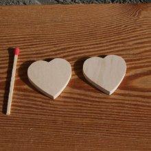 Figurine coeur 3x3 en bois brut a peindre