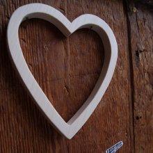 Coeur en bois évidé, porte alliance en bois mariage