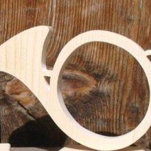 cor de chasse en bois, trompe decoration chasseur