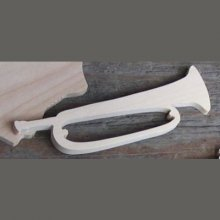 Figurine clairon lg 9cm ep 3mm  trompette de cavalerie