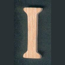 Lettre I en bois massif fait main, marquage, a coller