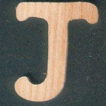 Lettre J en bois