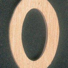 Lettre O en bois hauteur 5 cm a coller
