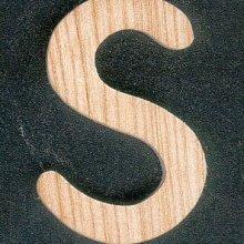 Lettre S en bois de frene massif a peindre et a coller