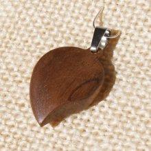 pendentif bois de noyer bijoux bois et nature