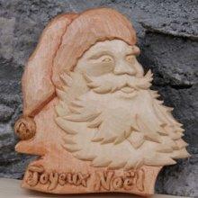 Pere Noel sculpté en bois