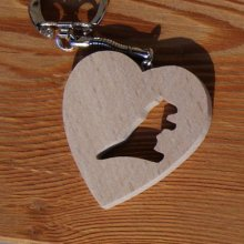 porte clef coeur et marmotte