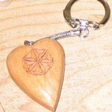 porte clef coeur rosace sculptée Saint Valentin