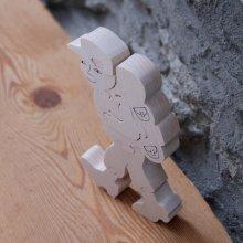 randonneur puzzle 8 pieces en bois de hetre massif fabrication artisanale cadeau montagne
