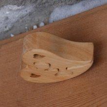 puzzle coeur 2 pieces en bois de merisier, cadeau saint valentin, noces de bois