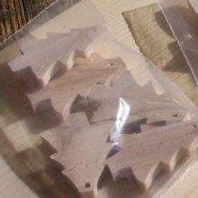 5 sapins de noel à décorer et à suspendre hetre massif fait main
