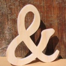 signe and 8cm, esperluette en bois a coller