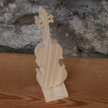 violon en bois ht20cm decoration d'interieur