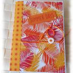 Livre de recettes, journal intime, aux couleurs du soleil 'Summer Days' jaune orange vert