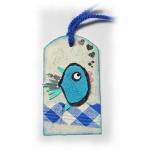 Animaux rigolos en forme de marque-pages pour enfants en tissu jean et acrylique multicolore pour aimer lire et