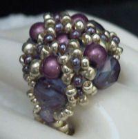 bague en perles de rocaille