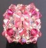 Bague en perles Swarovski avec strass Addison rose (kit)