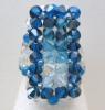 Blue Ponant bead ring pattern