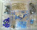 Boîte de perles Bleu Saphir