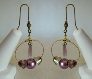 Crystal Lilac shadow earrings