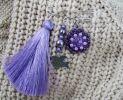 Broche Amitié Violet au Pompon
