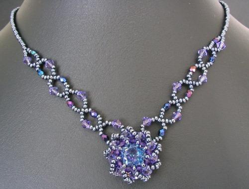 Syros Iridescent blue Necklace Kit