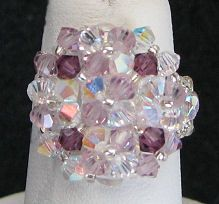 Crystal Amethyst Arz bead ring kit