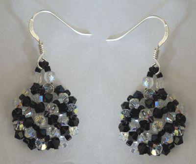 Crystal and black Arz earrings kit