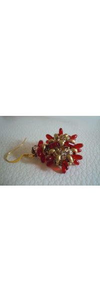 Red Indiana earrings tutorial