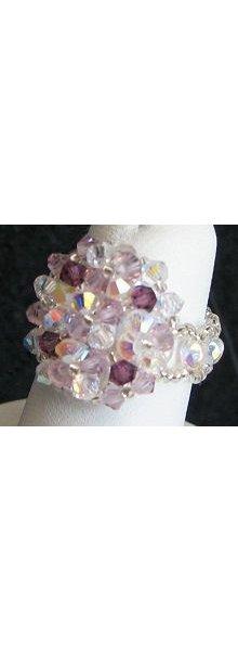 Crystal Amethyst Arz bead ring instructions