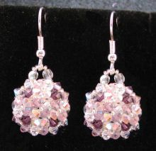 Crystal Amethyst earrings instructions