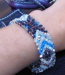 Notice pour bracelet bandeau violet