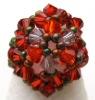 Orange honshu bead ring pattern